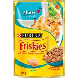 Alimento para gatos Friskies adulto atum sachê 85g