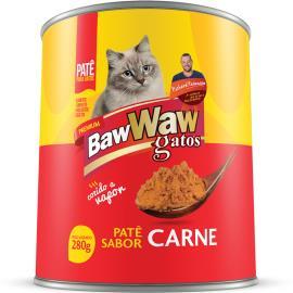 Alimento para gatos Baw Waw adultos carne lata 280g
