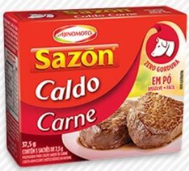 Caldo e pó Sazón Carne 37,5g