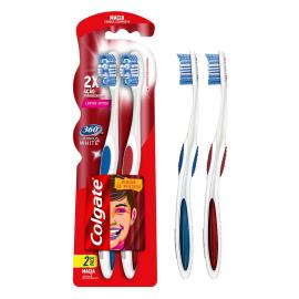 Escova Dental Colgate 360 Luminous White Macia 2un Promo Leve 2 Pague 1
