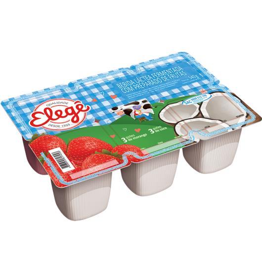 Bebida láctea Elegê polpa de morango e coco 540g - Imagem em destaque