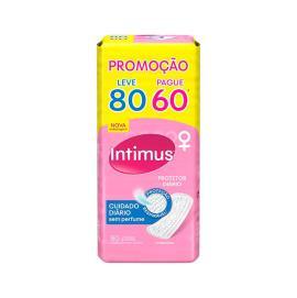 Protetor INTIMUS DAYS s/Perfume Leve 80 Pague 60 - 80 unidades
