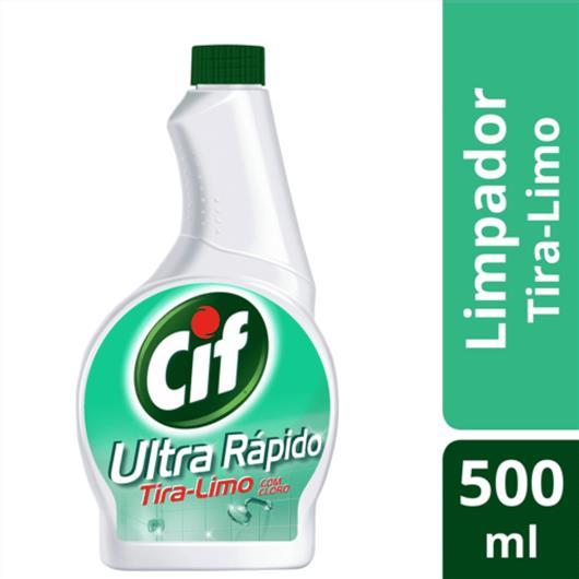 Refil Limpador CIF Ultra Rápido Tira-Limo Com Cloro 500 ML - Imagem em destaque