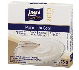 Mistura em pó para pudim Linea sabor coco zero açúcar 25g