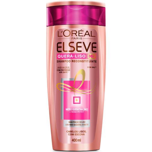 Shampoo Elseve quera liso MQ reconstituinte 400ml - Imagem em destaque