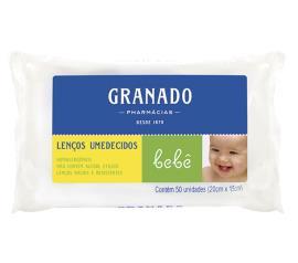 Lenço umedecido Granado bebê 50 unidades