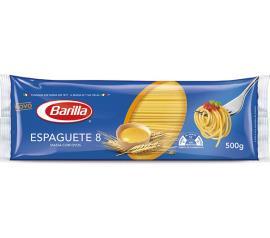 Massa com ovos espaguete n°8 Barilla 500g