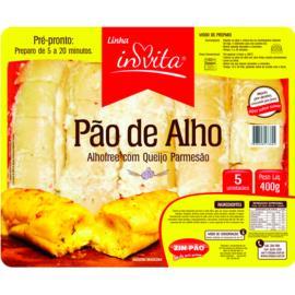Pão de Alho com queijo parmesão Invita 400g