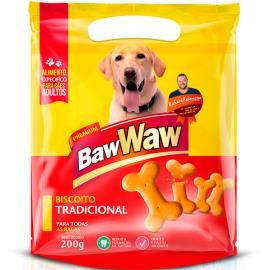 Petisco para cães Baw Waw biscoito tradicional 200g