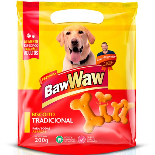 Petisco para cães Baw Waw biscoito tradicional 200g - Imagem em destaque