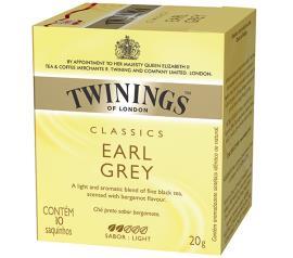 Chá Twinings preto classics earl grey 20g