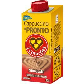 Bebida láctea 3 Corações cappuccino sabor chocolate 190ml