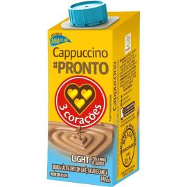 Bebida Láctea Cappuccino Light 3 Corações 190ml
