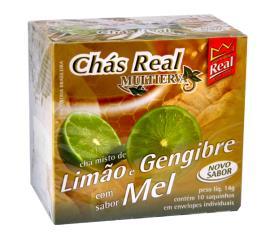 Chá Real Multierva Limão e Gengibre com Mel 14g