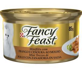 Alimento para gatos Fancy Feast sabor frango e cenoura ao molho  85g