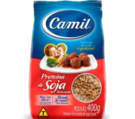 Proteína de soja Camil texturizada sabor carne 400g