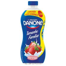 Iogurte Danone polpa de morango tamanho família 1,35kg