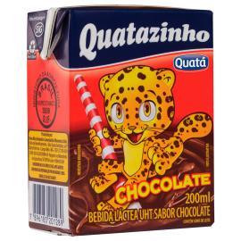 Bebida láctea Quatazinho sabor chocolate 200ml