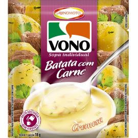 Sopa cremosa de batata com carne Vono 18g