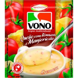 Sopa cremosa de queijo com tomate e manjericão Vono 16g