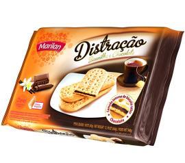 Biscoito Distração baunilha e chocolate Marilan 360g