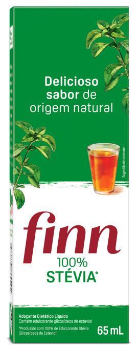 Adoçante Finn 100% stévia líquido 65ml