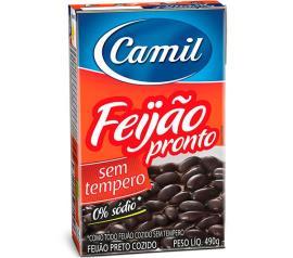 Feijão preto pronto para temperar Camil 490g
