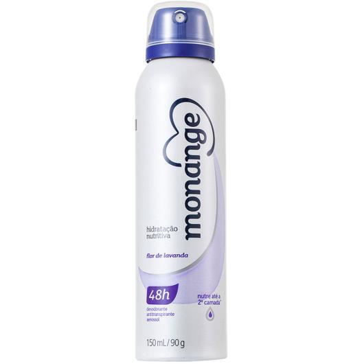 Desodorante Monange aerossol hidratação nutritiva flor de lavanda 90g - Imagem em destaque