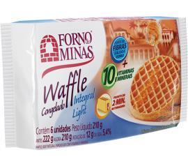 Waffle Forno de Minas integral light congelado 210g