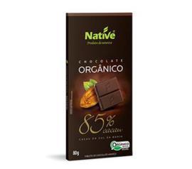 Chocolate Native orgânico amargo 85% de cacau 80g