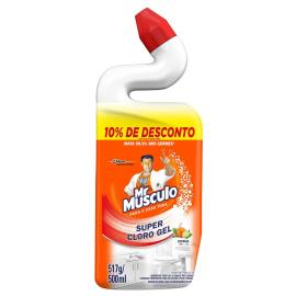 Desinfetante Mr Músculo Super Cloro Gel Citrus 500ml