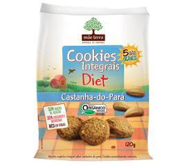Cookies Mãe Terra Integrais Castanha do Pará diet 120g