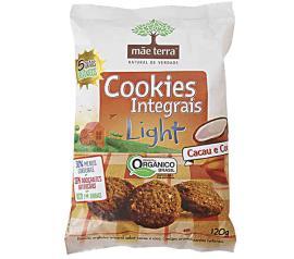 Cookies integrais cacau e coco light Mãe Terra 120g