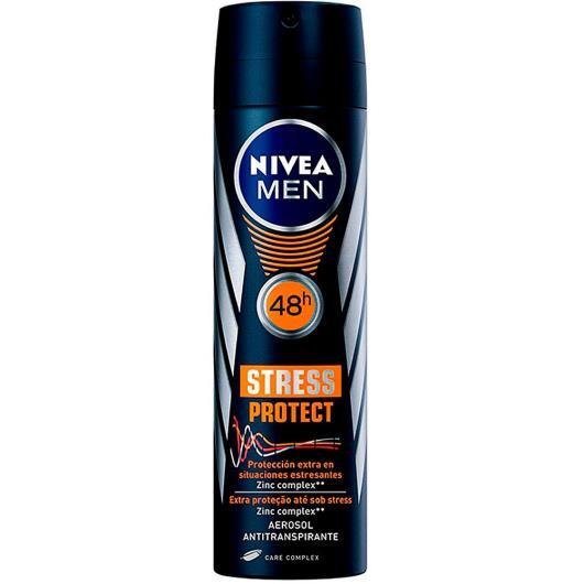 Desodorante Nivea aerossol for men stress protect 150ml - Imagem em destaque