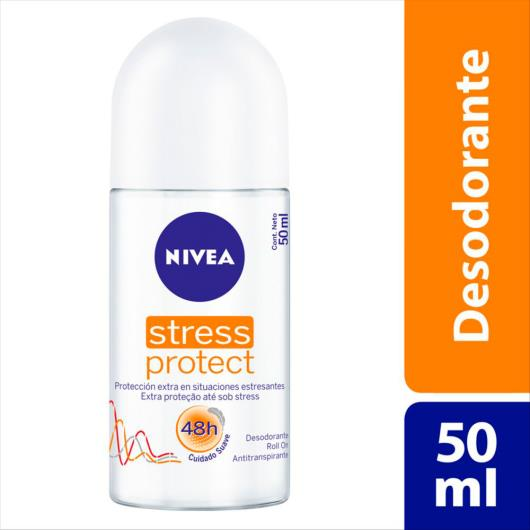 Desodorante Antitranspirante Roll On Nivea Stress Protect Feminino 50ml - Imagem em destaque
