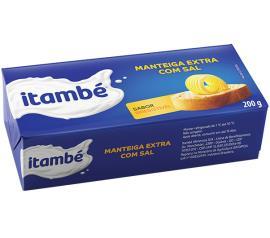 Manteiga extra com sal Itambé tablete 200g