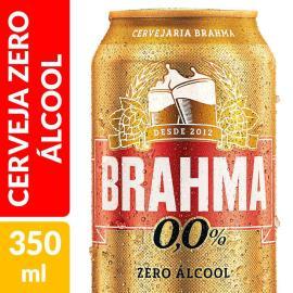 Cerveja Brahma Zero Álcool Lata 350ml