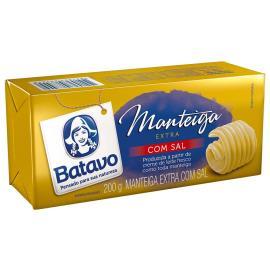 Manteiga Batavo extra com sal tablete 200g