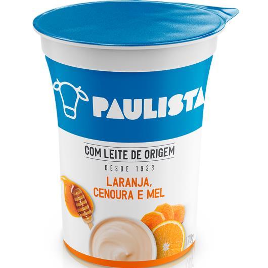 Bebida Láctea Paulista Laranja, Cenoura e Mel 170g - Imagem em destaque
