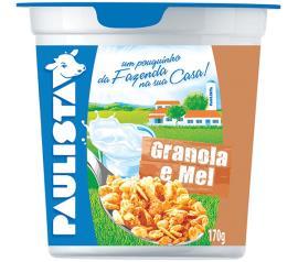 Bebida láctea Paulista granola e mel 170g