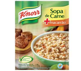 Sopa Knorr carne com macarrão sachê 73g