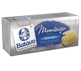 Manteiga extra sem sal Batavo tablete 200g