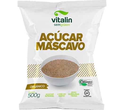 Açúcar Vitalin mascavo orgânico Sem Glúten 500g - Imagem em destaque