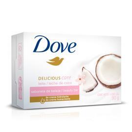 Sabonete Dove Delicious Care com Perfume de Leite De Coco 90g