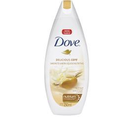 Sabonete Dove delicious care manteiga de karité e baunilha Líquido 250ml