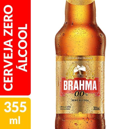 Cerveja Brahma zero álcool long neck 355ml - Imagem em destaque