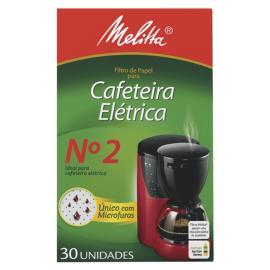 Filtro de Papel Cafeteira Elétrica N°2 Melita