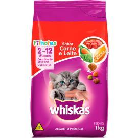 Ração Whiskas filhote carne e leite 1kg