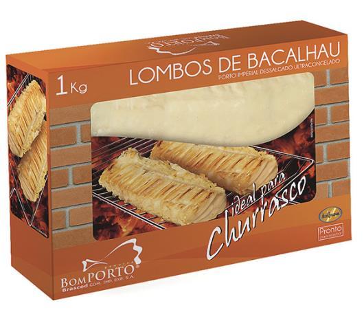 Bacalhau Congelado Bom Porto Lombo para Churrasco 1kg - Imagem em destaque