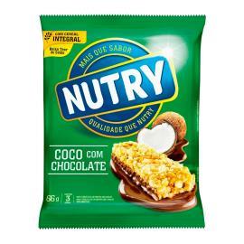 Barra de cereais Nutry sabor coco e chocolate 66g